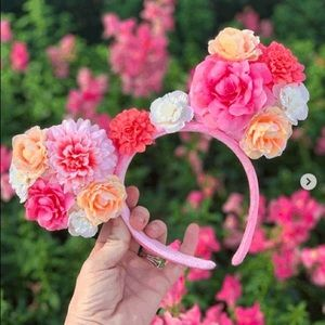 🌸 Disney Parks Minnie Mouse Flower Ears 🌸